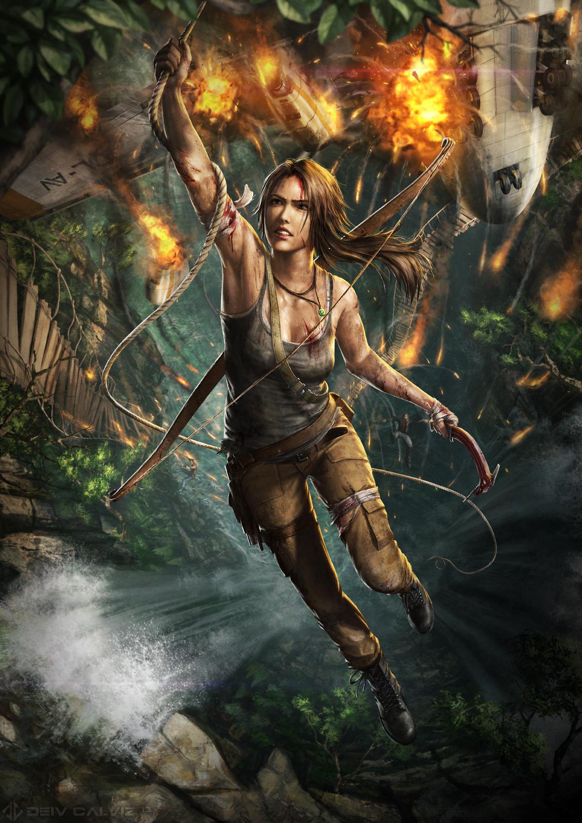 Lara Croft Concept Art by Viktor Titov - DigitalArt.io