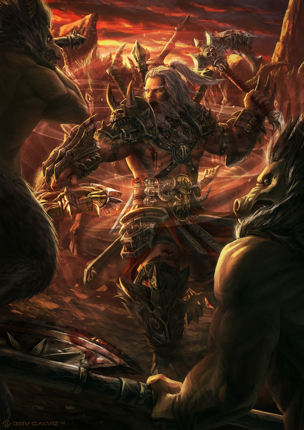 Diablo 3 Barbarian Fan Art