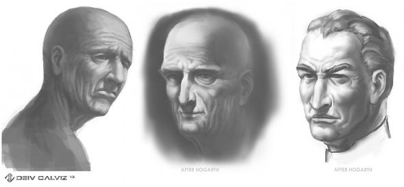 Hogarth Heads Study 01
