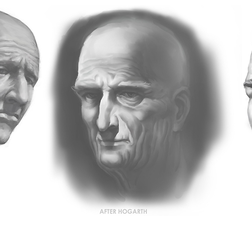 Hogarth Heads Study 01