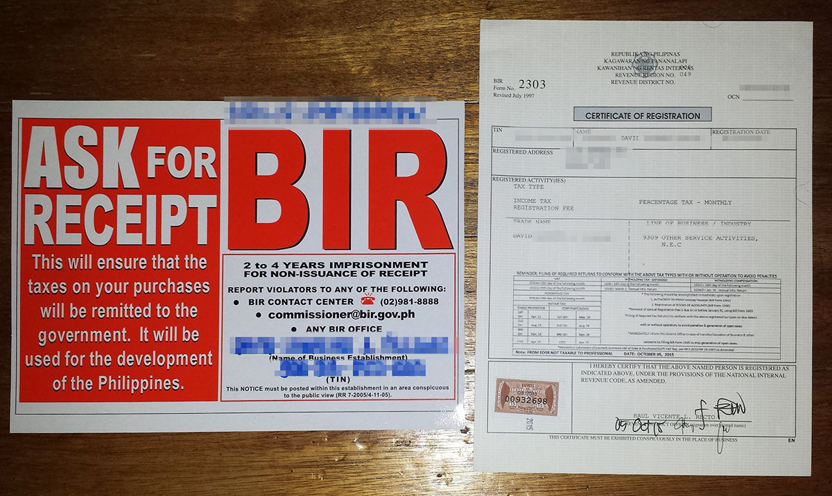 bir registration for freelance artists in the philippines